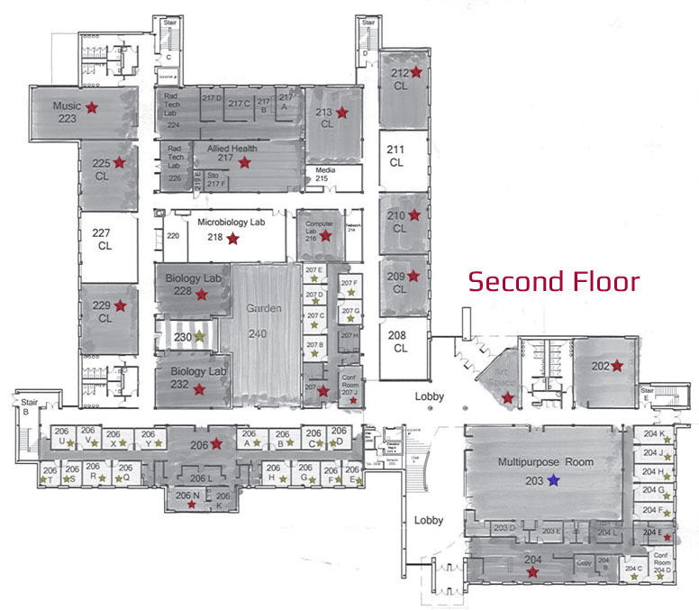 Lancaster Campus East Building Second Floor Naming Opportunities
