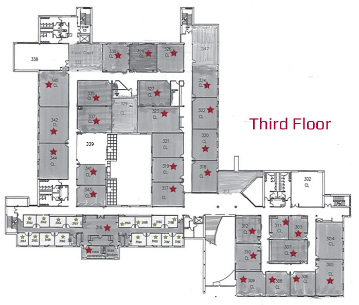 Lancaster Campus East Building Third Floor Naming Opportunities