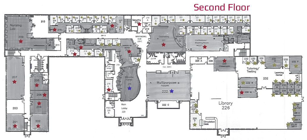 Lancaster Campus Main Building Second Floor Naming Opportunities