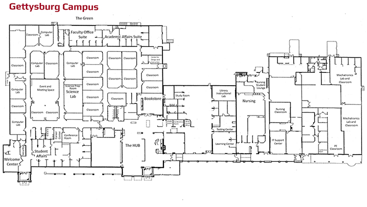 hacc lancaster campus map Naming Opportunities Gettysburg Campus hacc lancaster campus map