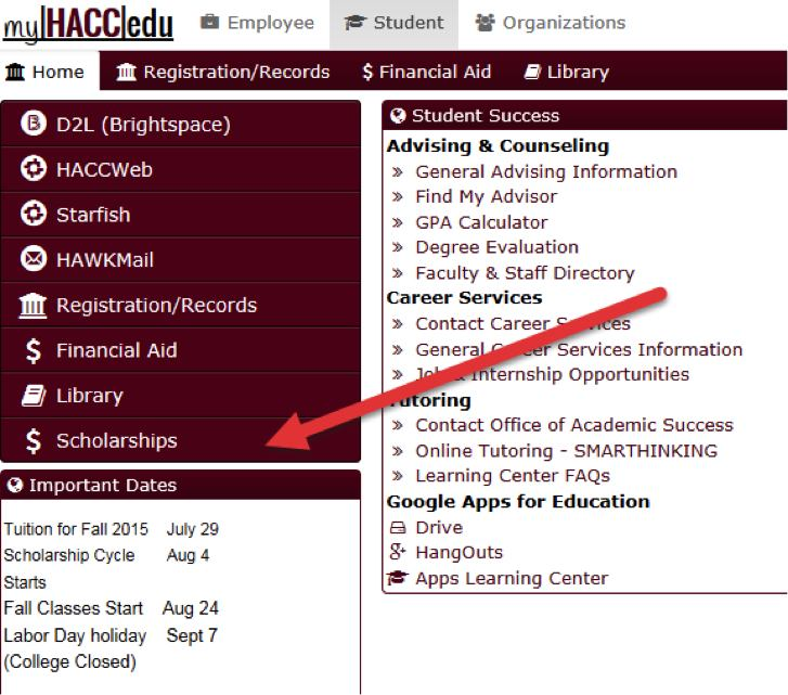 myHACC Scholarships