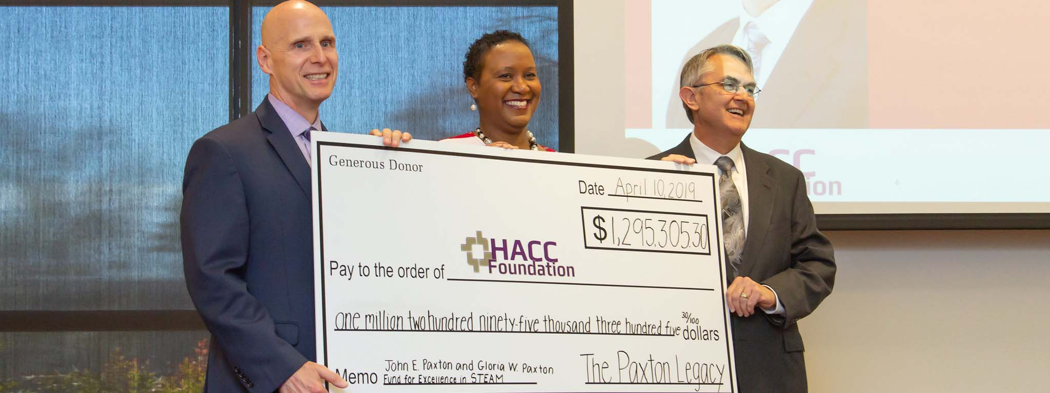 Paxtons Leave Nearly $1.3 Million to Support STEAM at HACC