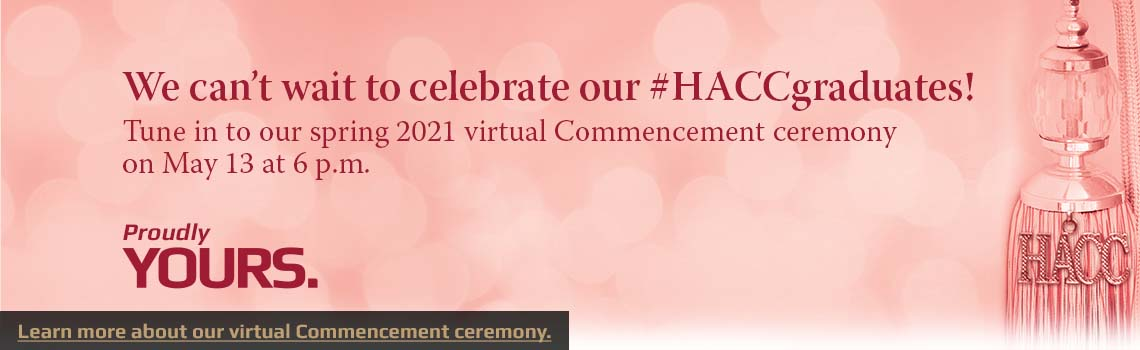 Spring 2021 Virtual Commencement is May 13 at 6 pm