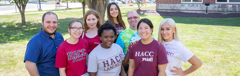 Group of HACC students