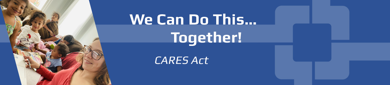 CARES act webpage header