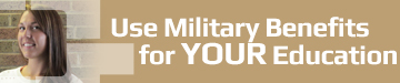 Use military benefits for your education